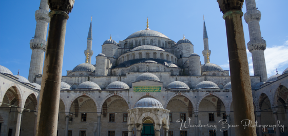 The imposing symmetry of the Blue Mosque.