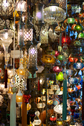 A collection of lamps at the Grand Bazaar.