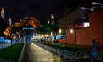 The rain stopped long enough for me to capture Hagia Sophia late at night.