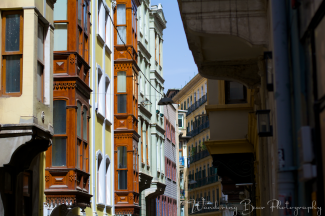 The color and architecture of Istanbul created scenes like this on nearly every side street,