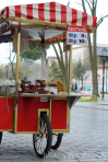 Typical Istanbul food cart.