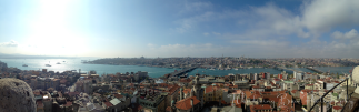 A Panorama of Istanbul and the Golden Horn from atop Galata Tower.