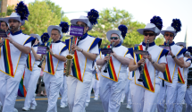 Marching to a pride beat.