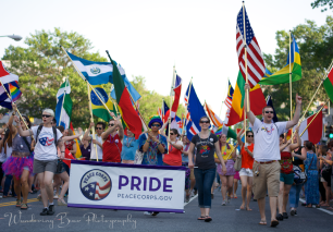 Peace Corps contingent marching in the parade.