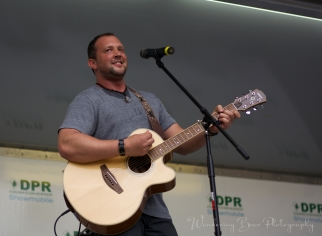 Justin Utley performs on the Capital Pride Dupont stage.